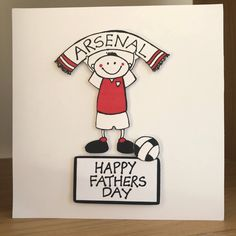 Your place to buy and sell all things handmade Birthday Greetings For Dad, Birthday Cards For Him, Man Birthday, Fathers Day Cards, Gifts For Father, Happy Fathers Day, Liverpool Fc Gifts, Fc Liverpool, Arsenal Gifts