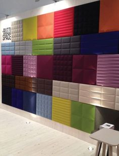 Buzzispace.com creates a variety of acoustic treatments in many colors, shapes, and patterns.