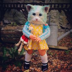 Kitten Blue. 'Something to hold on to' by AnnieMontgomerie on Etsy