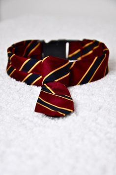 Hairy Potter Gryffindor Tie Collar by theDapperDogco on Etsy, $25.00