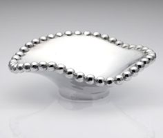 'String of Pearls' Small Wavy Bowl: Made of sand cast aluminum. #Bowl #String_of_Pearls_Bowl