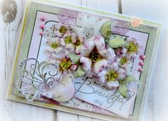 Card I created using the Flowering Dogwood Collection by Heartfelt Creations...