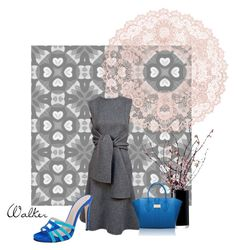 """""""Grey Dress"""" by walkerwalker ❤ liked on Polyvore featuring LSA International and Charles David"""