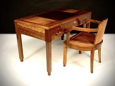 Art Deco Desk, Art Deco Furniture, Wood Furniture, Antique Furniture, Luxury Interior Design, Interior Architecture, Mid Century Desk, Antique Desk, French Art