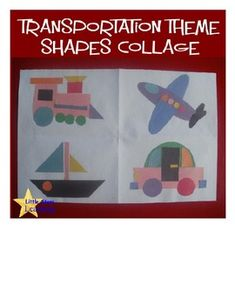 Transportation Shapes Collage Template - Pinned by @PediaStaff – Please Visit http://ht.ly/63sNt for all our pediatric therapy pins - Pinned by @PediaStaff – Please Visit http://ht.ly/63sNt for all our pediatric therapy pins