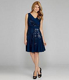 Antonio Melani Irenka Georgette Sequin Dress #Dillards