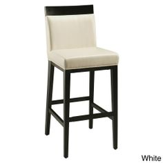 Elloise White or Grey 30-inch Bar Stool | Overstock.com Shopping - Great Deals on Bar Stools