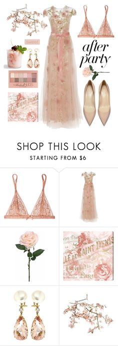 """Untitled #481"" by mydntkrl ❤ liked on Polyvore featuring L'Agent By Agent Provocateur, Marchesa, Oliver Gal Artist Co., Maybelline, Valentin Magro and Canopy Designs"