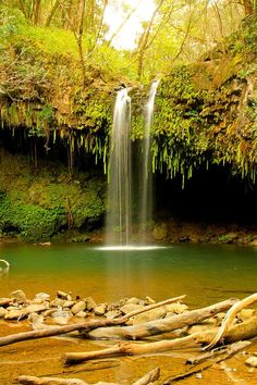 ** JUST the Picture - no info **** Twin Falls - Maui, Hawaii.I've been to Maui, but I was little at the time. I didn't see places like this! Hawaii Vacation, Maui Hawaii, Dream Vacations, Vacation Spots, Maui Honeymoon, Oh The Places You'll Go, Places To Travel, Places To Visit, Twin Falls Maui