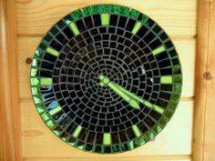 Mosaic Clock Is The Time 420 or 1050 or 7 35 by StayCsStainedGlass