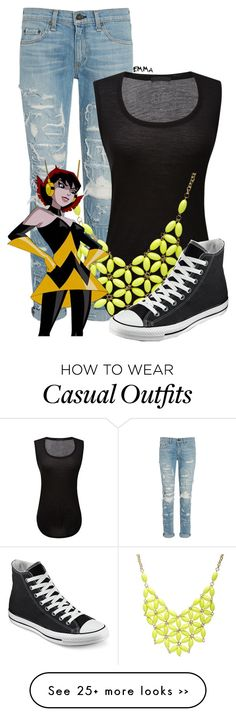 """""""Wasp inspired: casual"""" by tardis-221b on Polyvore"""