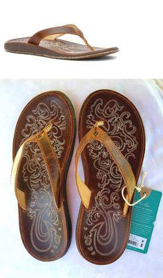 9d16b9a8f8e61e Sandals and Flip Flops 62107  Olukai Paniolo Sandals Flip-Flops - Women S  Size 9 New -  BUY IT NOW ONLY   63.95 on eBay!