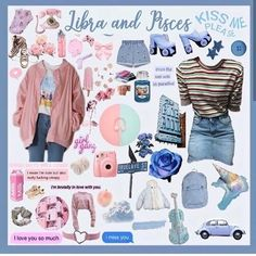 Libra And Pisces, Libra Zodiac Facts, Pisces Sign, Astrology Pisces, Zodiac Signs, Aesthetic Outfit, Aesthetic Fashion, Aesthetic Clothes, Swag Outfits