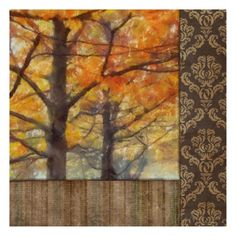 Amber Damask Tree II Print by Taylor Greene at AllPosters.com