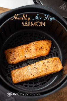 Salmon recipes 522839837989455866 - Best recipe for air fried salmon in the air fryer. It uses very little oil and easy healthy salmon recipe in air fryer. Low carb, keto salmon recipe Source by bestrecipebox Air Fryer Recipes Breakfast, Air Fryer Dinner Recipes, Air Fryer Recipes Easy, Air Fryer Recipes Salmon, Small Air Fryer, Fried Salmon, Keto Salmon, Air Frier Recipes, Organic Cooking