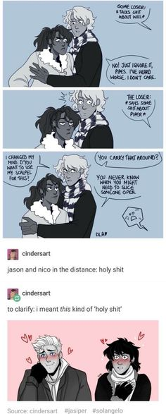 Piper and Will | Jason and Nico
