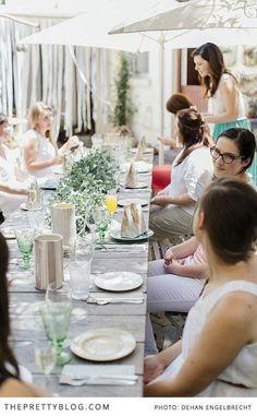 Contributors lunch | Poetry style | Photographer: /deenphoto/, Venue & Food: The Birdcage, Wonki Ware Jugs & Platters, Wooden Boards, Glassware & Wooden Boards: Poetry