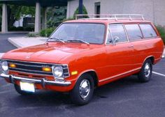 1970 Opel Kadett Station Wagon:  we used to fit 12 people (2 adults/10 kids) in this car.