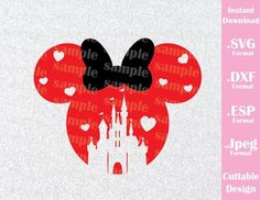 Minnie Castle Ears Cutting File in SVG, ESP, DXF and JPEG Format