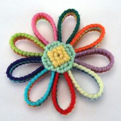 flower crochet ornament  There isn't a pattern and the link to the etsy store is bad.  I bet this would be easy enough to figure out.