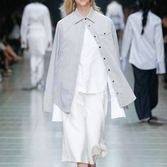 All about the layers on the runway @VAMFF   Shop our new collection of shirting and the white Glissando Culottes at annaquan.com now