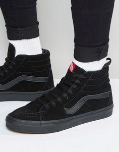 d451a00671455c Vans Sk8-Hi suede sneakers in black vd5ibka