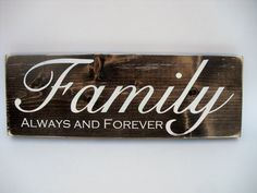 Rustic Wood Sign Wall Hanging Home Decor  by InTheDustDesigns, $26.00 Family Wood Signs, Family Name Signs, Rustic Wood Signs, Wooden Signs, Rustic Charm, Home Decor Styles, Dark Wood, Gifts For Family, Wall Signs