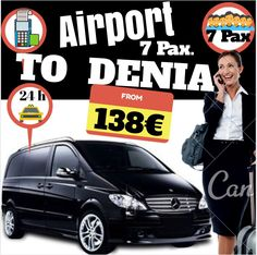 ALICANTE AIRPORT TO DENIA FOR 7 PAX www.alicante-airporttransfers.com/en/