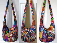 MADE TO ORDER Hobo Bag Crossbody Bag Hippie Purse by 2LeftHandz