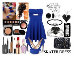 """""""Skater Dress"""" by sonjahardy ❤ liked on Polyvore featuring Miss Selfridge, Jessica Simpson, Jewel Exclusive, Ice, Amore Argento, Allurez, NARS Cosmetics, Elizabeth Arden, Urban Decay and Yves Saint Laurent"""