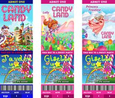 Candyland Birthday Party Personalized Custom Ticket Invitations Princess Lolly | eBay