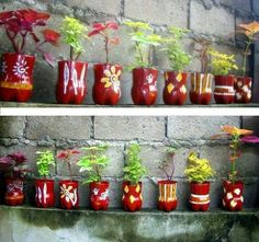 Reused plactic bottles from home design