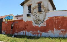 Must do in Lisbon: Street Art tour - via Go Live, Go Travel 21.06.2015 | Lisbon is one of the best cities in the world to spot street art. Do not miss this side and not go on a street art tour through the Portuguese capital. #lisboa #portugal #travel #tips Photo: Wall Vhills Lisbon Alcantara