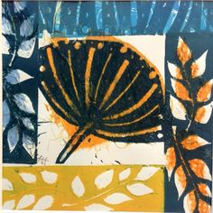 Angie Mitchell Flower Collage, Flower Art, Gelli Plate Printing, Plant Drawing, Tampons, Patterns In Nature, Print Artist, Printmaking, Art Projects