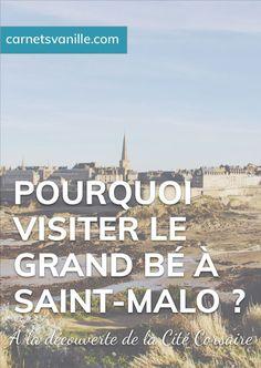 Tu prévois d'aller faire un tour à Saint-Malo ? Découvre pourquoi il faut faire un stop par le Grand Bé !  #saintmalo  #grandbé Blog Voyage, Articles, Happiness, Beach, Travel, Outdoor, Blogging, Community, Walls