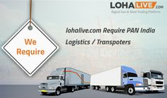 lohalive.com Require PAN India Logistics and Transporter.