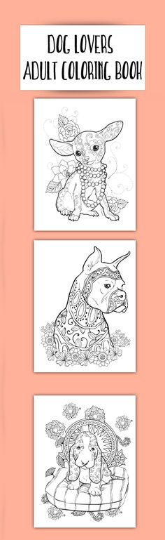 New Adult Coloring Book For Dog Lovers Grab It Here On Amazon