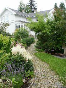 Løvli, livet på landet.: Høst i hagen Tallit, Garden Inspiration, Garden Ideas, Pathways, Beautiful Gardens, Future House, Landscape Design, Natural Beauty, Sidewalk