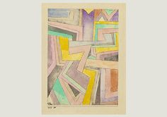 Paul Klee  'Farbenwinkel'  (Color Angles or The Angles of Color [my own attempt at translation g.s.])  1917   Watercolor,pen and pencil on paper on cardboard  19.1 x 13.9 cm
