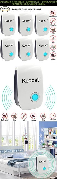 6PCS Ultrasonic Pest Repeller - Electronic Plug In Control Repellent for Rodents, Mice, Rats, Insects, Roaches, Spiders, Flies, Ants, Bugs, Fleas, Non-toxic, Environment-friendly, Humans & Pets Safe #device #fpv #gadgets #kit #shopping #drone #storage #technology #parts #racing #products #camera #tech #i #plans