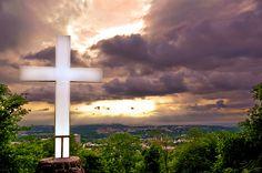 Cross at Mount Sequoyah - - Fayetteville Landscape HDR