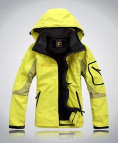 Jack Wolfskin Women Steep Ascent Outdoor Jacket Yellow