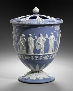 Wedgwood Manufactory, Pot Pourri vase depicting Apollo and the Nine Muses, c.1785-95 (source).