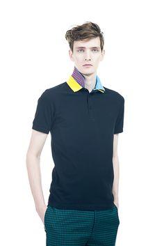 [No.9/16] Raf Simons × Fred Perry 2013春夏コレクション | Fashionsnap.com  The collar of this polo shirt is like a flower! So beautiful;)