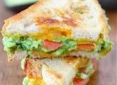 Guacamole grilled cheese  can't get better than that  Oh wait, ADD BACON! OMG  Yeah, hungry now, for sure.