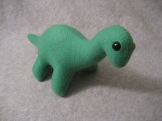 Green Dinosaur Plush Toy by dropkicktims on Etsy, $15.00