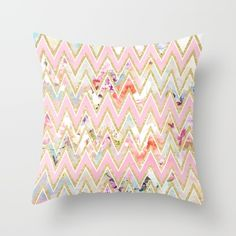 a girly, elegant faux gold glitter , pastel pink and white modern geometric chevron pattern on a chic floral pattern featuring beautiful and preppy vintage victorian roses and peonies in light pink and orchid purple on a modern and abstract pink and teal pastel watercolor strokes pattern . perfect feminine gift for the flower and nature lover with a sense for trends and fashion.<br/> chic, flowers...