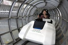 Chinese scientists have built a prototype for a train that could travel THREE TIMES faster than a plane! It could get you from London to New York in just three hours.