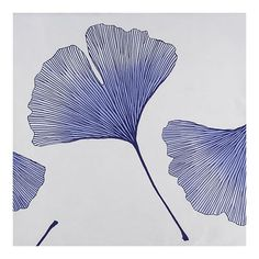 Marimeko Ginkgo Blue and Biloba Blue Bed Linens.
