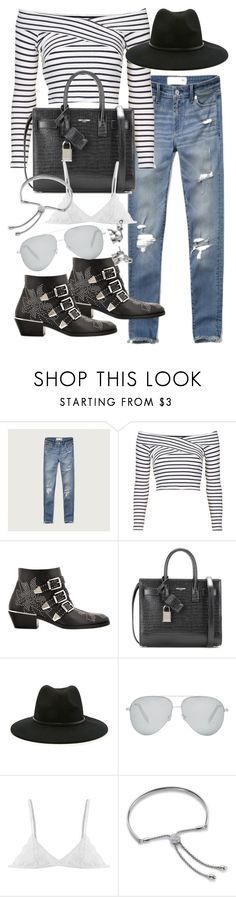 """""""Untitled #19659"""" by florencia95 ❤ liked on Polyvore featuring Abercrombie & Fitch, Topshop, Chloé, Yves Saint Laurent, Forever 21, Victoria Beckham, Monica Vinader and Lonna & Lilly"""